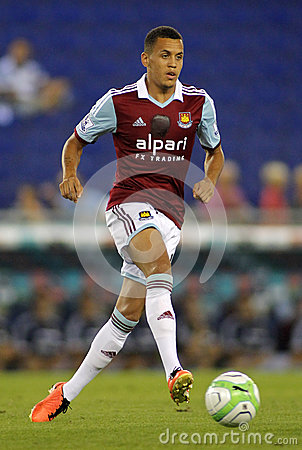 Ravel Morrison of West Ham United Editorial Photography