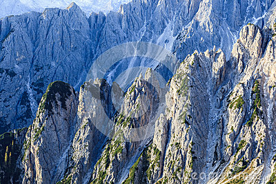 Ravine in dolomites mountain