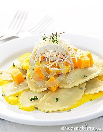 Free Ravioli Dinner Stock Image - 17099981