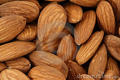 Raw Almonds background