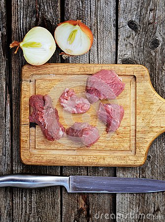 Raw beaf meat