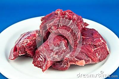 Raw Beef Chunks