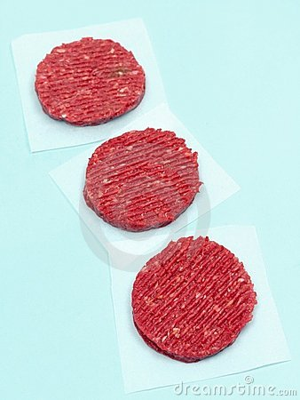 Raw Beef Patties