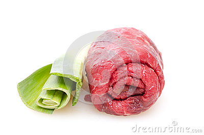 Raw beef roulade