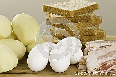 Raw breakfast ingredient
