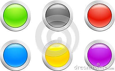 Raw button. [Vector]