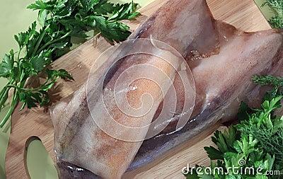 Raw calamary