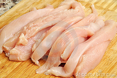 Raw chicken