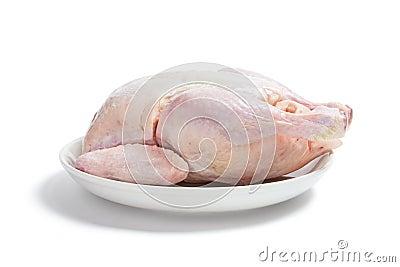 Raw Chicken on Plate