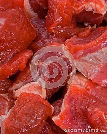 Raw Diced Beef