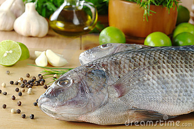 Raw Fish Called Tilapia