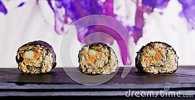 Raw food maki sushi