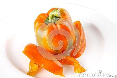 Raw fresh orange bell