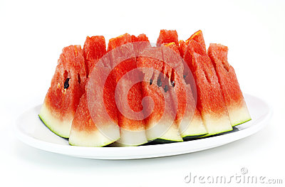 Raw fresh watermelon pieces