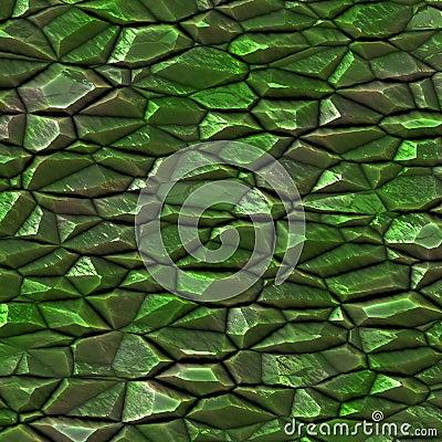 Raw green gems