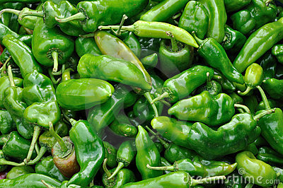 Raw green pepper