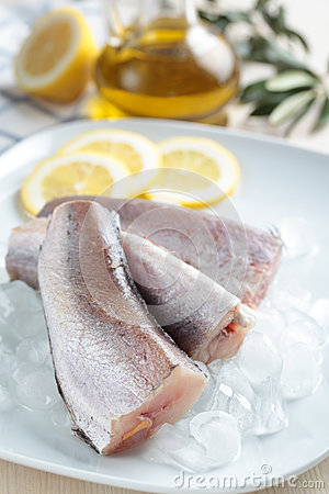 Raw hake