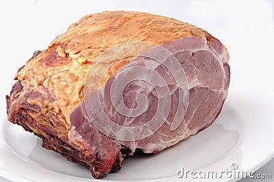 Raw ham meat