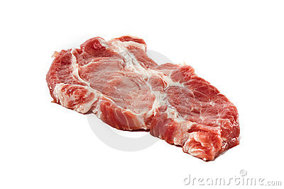 Raw juicy meat