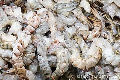 Raw king prawns