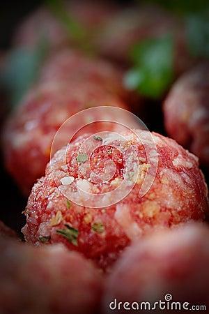 Raw meat balls