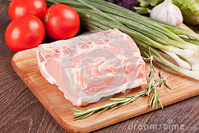 Raw meat for cooking