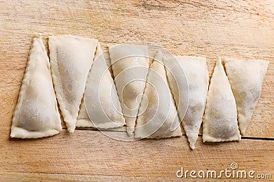 Raw meat dumplings