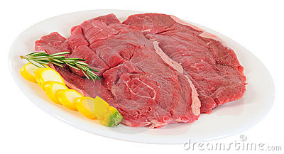 Raw meat. Isolated