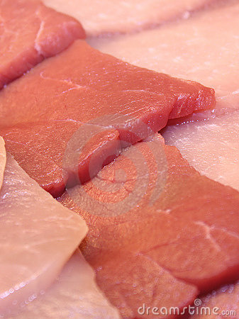 Raw Meat Slices