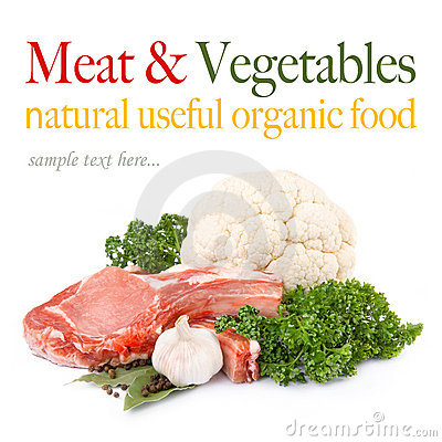 Free Raw Meat With Fresh Vegetables Royalty Free Stock Photo - 18944485