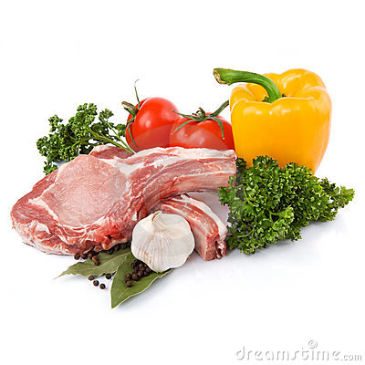 Free Raw Meat With Vegetables Stock Photography - 19374452