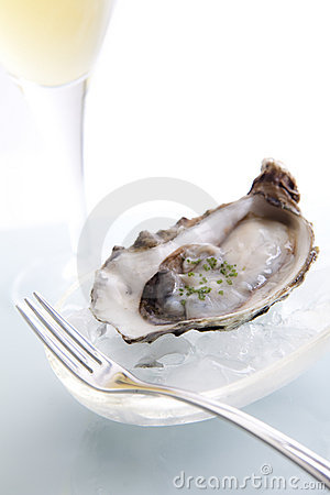 Free Raw Oyster On Ice Royalty Free Stock Photo - 11144725