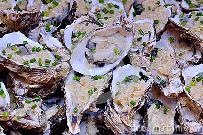 Raw Oyster for toast