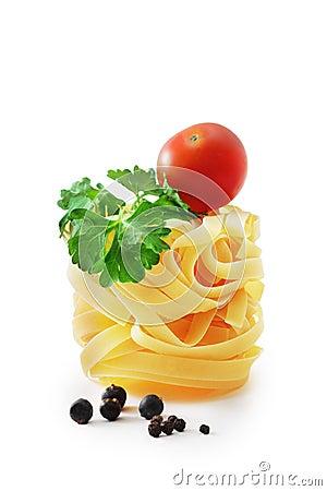 Raw pasta nest