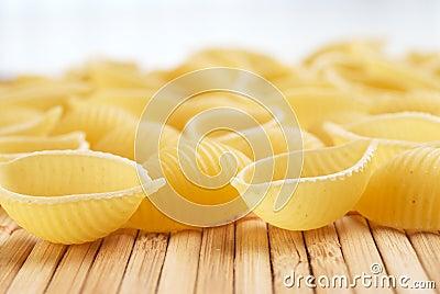 Raw pasta shells