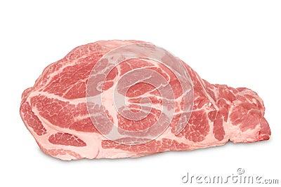 Raw pork.