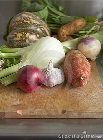 Raw produce - winter vegetables
