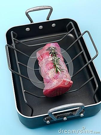 Raw Roast Veal