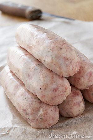 Free Raw Sausages Stock Photography - 8755492