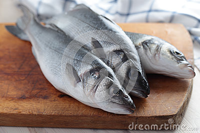 Raw sea bass