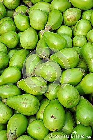 Raw small eggplant