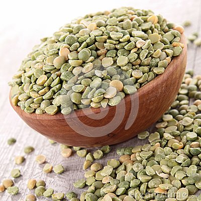 Raw split pea