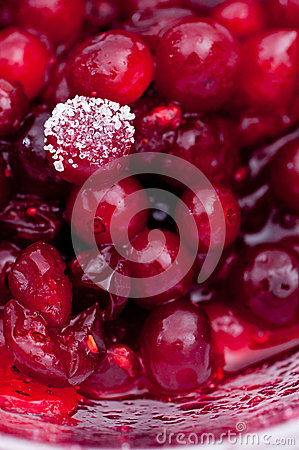 Raw Stirred Cranberries