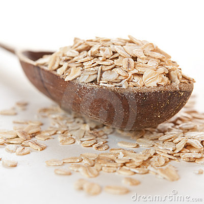 Raw thick rolled oats