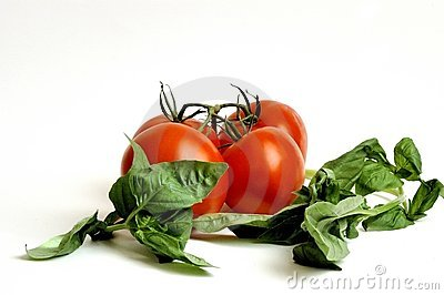 Raw Tomatoes and Basil