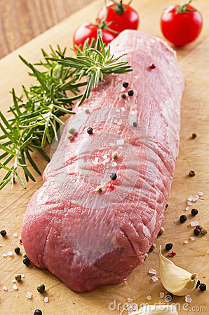 Free Raw Veal Fillet With Herbs And Spices Stock Image - 38408831