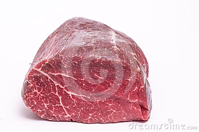 Raw well-hung organic fillet of beef