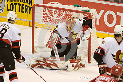 Ray Emery Protects The Net Editorial Photography