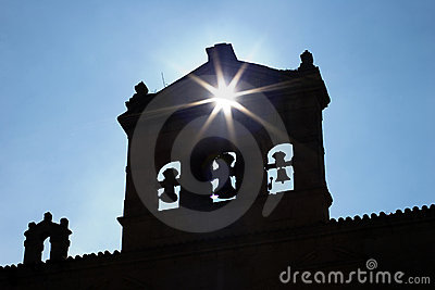 Ray of lights cross belfry