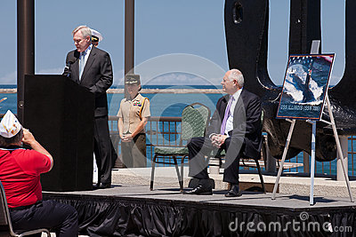 Ray Mabus at USS Illinois Naming Ceremony Editorial Image
